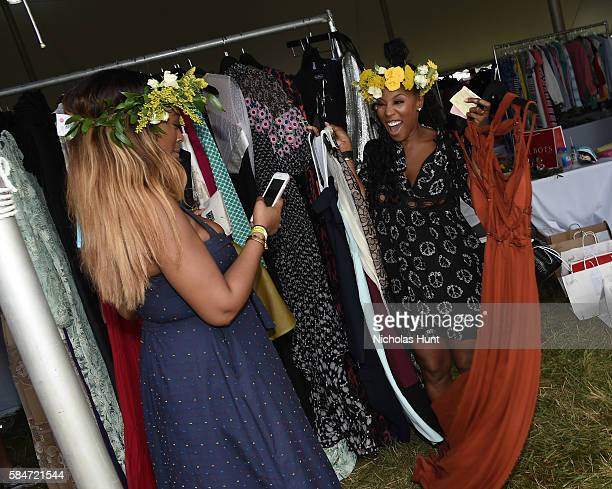 June Ambrose attends OCRFA's 19th Annual Super Saturday NY Hosted by Kelly Ripa Donna Karan and Gabby Karan de Felice on July 30 2016 in Watermill...