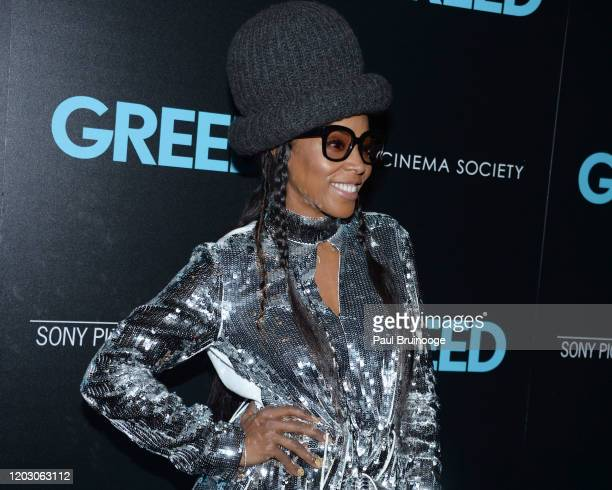 "June Ambrose attends The Cinema Society & Monkey 47 Host A Special Screening Of Sony Pictures Classics' ""Greed"" at Cinepolis Chelsea on February 24,..."