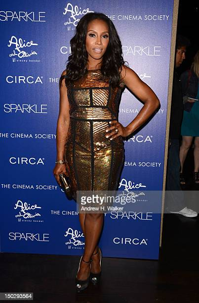 June Ambrose attends The Cinema Society with Circa and Alice Olivia screening of Sparkle at Tribeca Grand Hotel on August 14 2012 in New York City