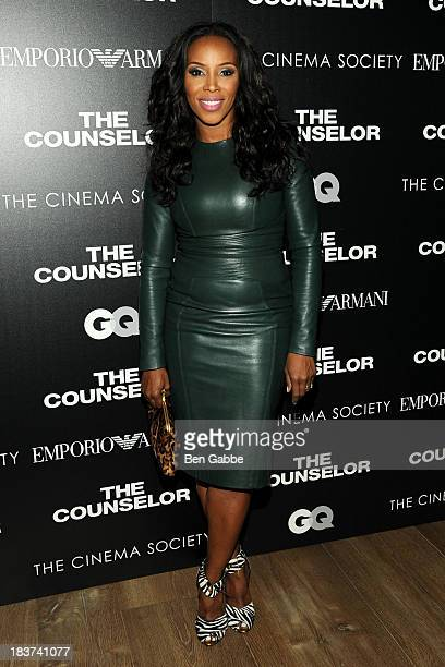 June Ambrose attends the Emporio Armani with GQ The Cinema Society screening of 'The Counselor' at the Crosby Street Hotel on October 9 2013 in New...