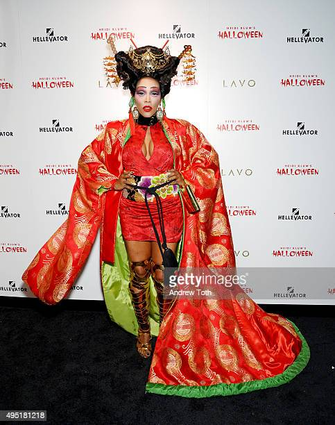 June Ambrose attends the Heidi Klum Halloween Party on October 31 2015 in New York City