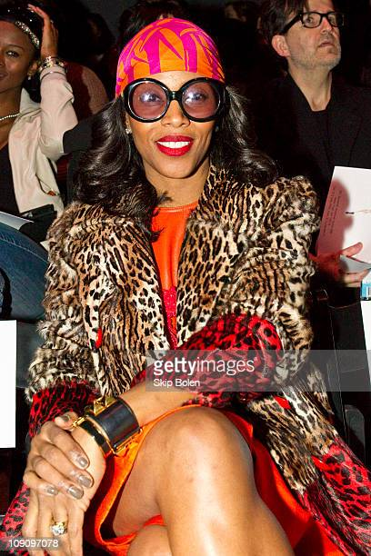 87c77f2c06ae June Ambrose attends the Pamella Roland Fall 2011 fashion show during  MercedesBenz Fashion Week at The