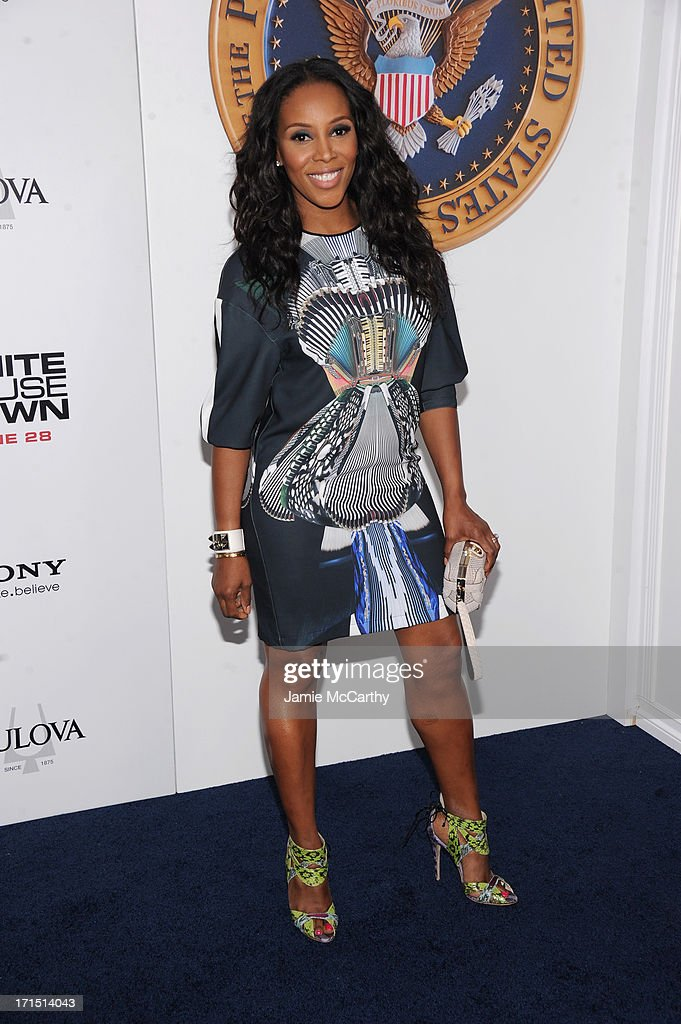 June Ambrose attends 'White House Down' New York Premiere at Ziegfeld Theater on June 25, 2013 in New York City.