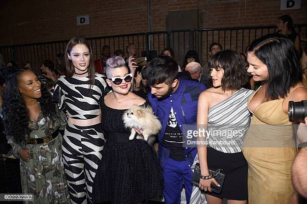 June Ambrose Coco Rocha Kelly Osbourne Brad Walsh Isabelle Fuhrman and Leigh Lezark attend the Christian Siriano fashion show during New York Fashion...