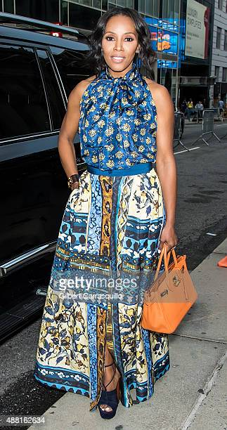 June Ambrose is seen arriving at Prabal Gurung fashion show during Spring 2016 New York Fashion Week on September 13 2015 in New York City