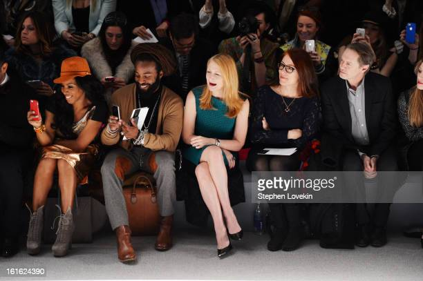 June Ambrose John Forte Patricia CLarkson Jo Andres and Steve Buscemi attend the Nanette Lepore Fall 2013 fashion show during MercedesBenz Fashion...