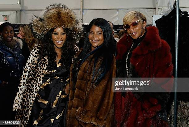 June Ambrose Misa HyltonBrim and Mary J Blige attend Dennis Basso collection during MercedesBenz Fashion Week Fall 2015 at The Theatre at Lincoln...