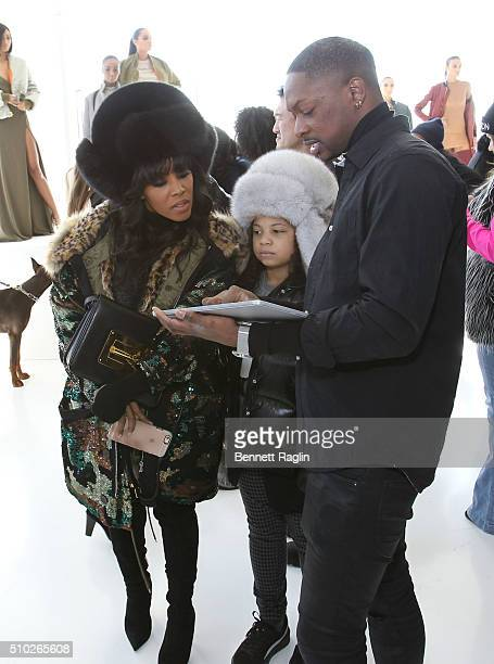 June Ambrose Summer Chamblin and LaQuan Smith appear during SheaMoisture at Laquan Smith F/W 2016 NYFW at Jack Studios on February 14 2016 in New...