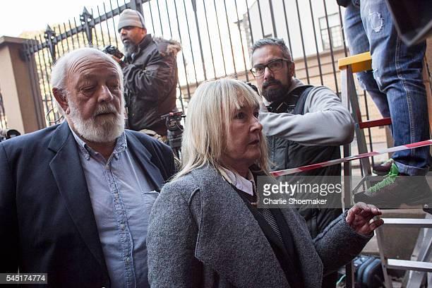 June and Barry Steenkamp, parents of Reeva Steenkamp arrive at North Gauteng High Court on July 6, 2016 in Pretoria, South Africa. Pistorius was...