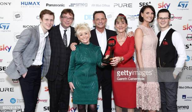 June Brown with her Special Award and Jamie Borthwick Adam Woodyatt Barbara Windsor Perry Fenwick Emma Barton and Harry Reid during the TRIC Awards...