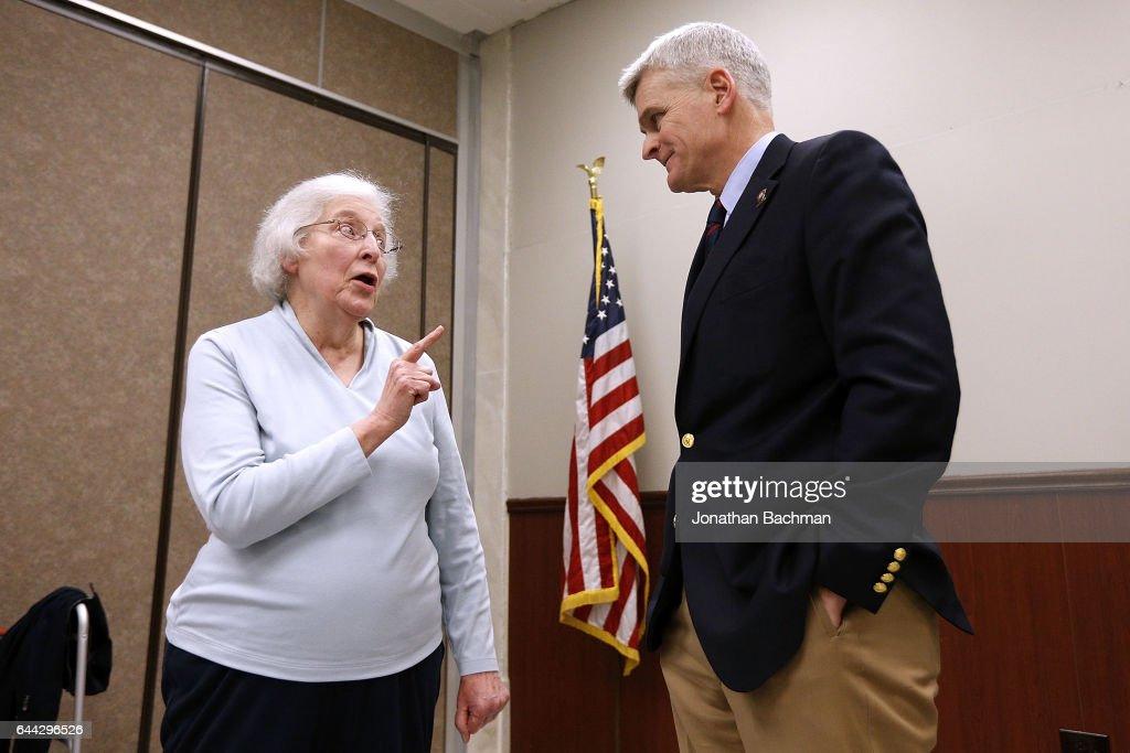 Louisiana Senator Bill Cassidy Holds Town Hall Meeting In Lafourche Parish