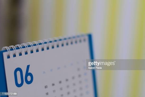 june calendar folder - june stock pictures, royalty-free photos & images
