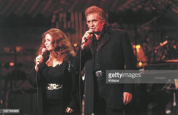 June Carter Cash and Johnny Cash during Johnny Cash and June Carter Cash Perform Circa 1980's at Unknown in New York City New York United States