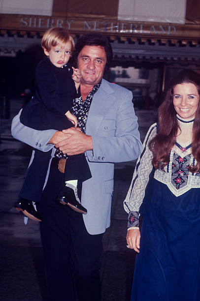 Johnny Cash and family