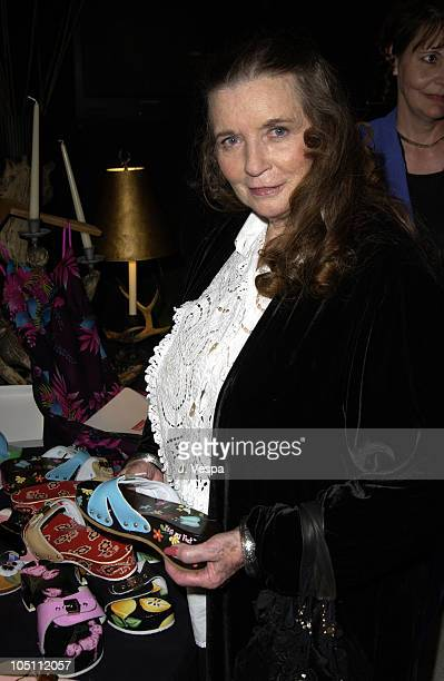June Carter Cash with shoes by Kiss My Feet during 2003 CMT Flameworthy Awards Backstage Creations Talent Retreat Day Two at The Gaylord Center in...