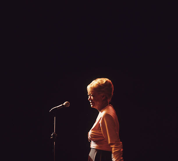 June Christy performs on stage at the Lincoln Centre...