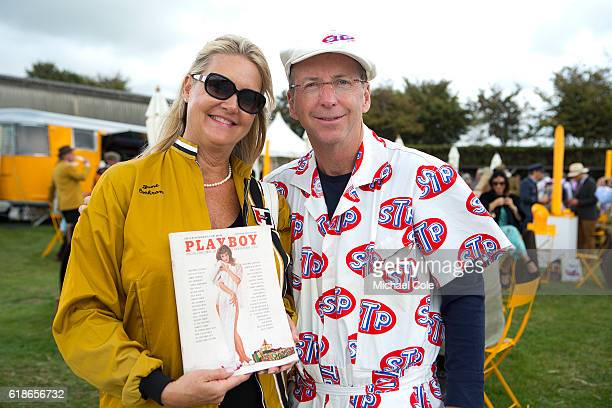June Cochran with Richard Plavetich at Goodwood on September 9 2016 in Chichester England