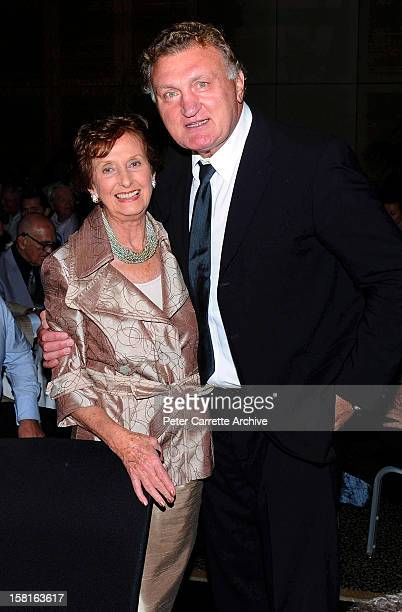 June DallyWatkins and former heavyweight boxer Joe Bugner at a tribute and testimonial dinner to celebrate his 60th birthday at the Sofitel Hotel on...