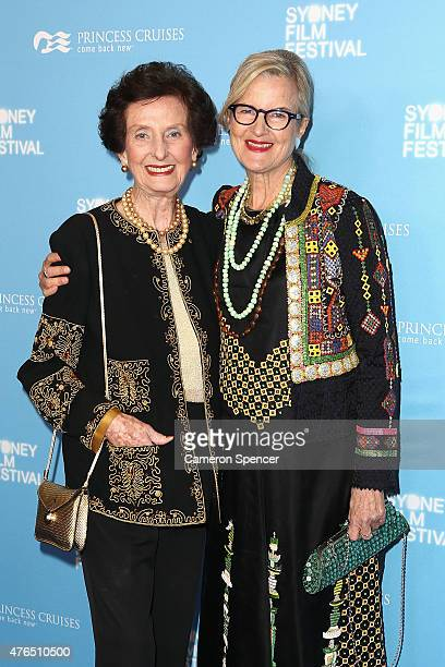 June DallyWatkins and Gillian Armstrong arrive at the' Women He's Undressed' world premiere at the Overseas Passenger Terminal on June 10 2015 in...