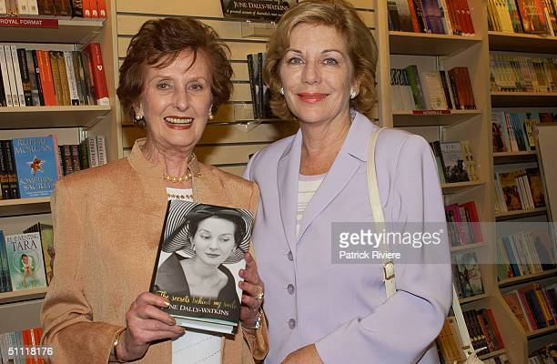 June DallyWatkins and Ita Buttrose at the launching of Australian most photographed model of the 40s50s June DallyWatkins' new book The Secret Behind...