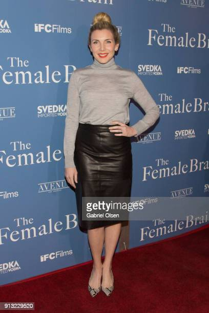 June Diane Raphael arrives for the premiere of IFC Films' 'The Female Brain' at ArcLight Hollywood on February 1 2018 in Hollywood California