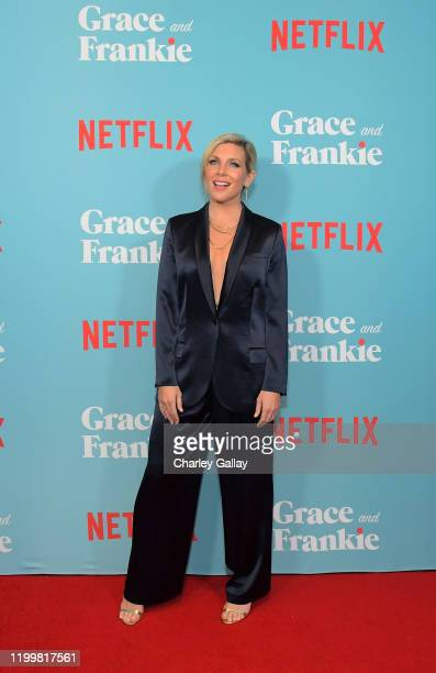 June Diane Raphael attends a special screening of Grace and Frankie Season 6 presented by Netflix on January 15 2020 in Los Angeles California
