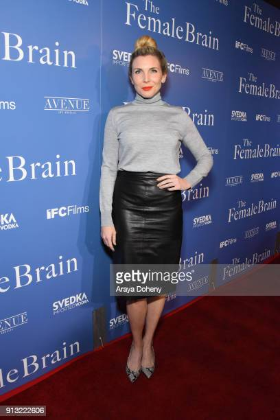 June Diane Raphael attends the premiere of IFC Films' 'The Female Brain' at ArcLight Hollywood on February 1 2018 in Los Angeles California