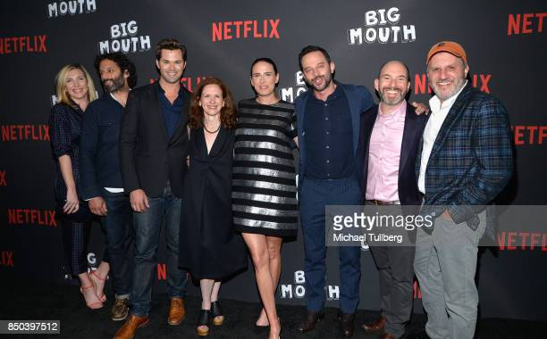 June Diane Raphael Jason Mantzoukas Andrew Rannells Jen Flackett Jessi Klein Nick Kroll Andrew Goldberg and Mark Levin arrive at the premiere of 'Big...