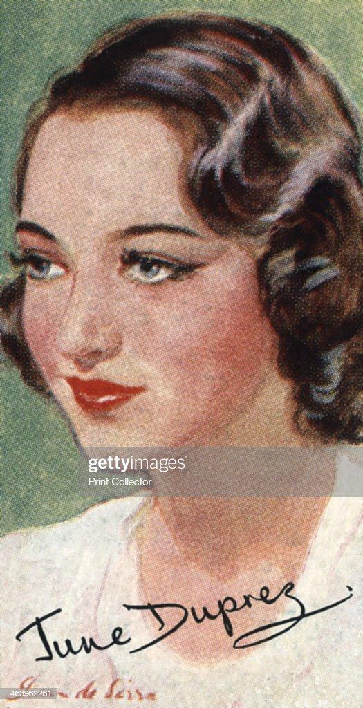 June Duprez, (1918-1984), British film actress, 20th century. : News Photo