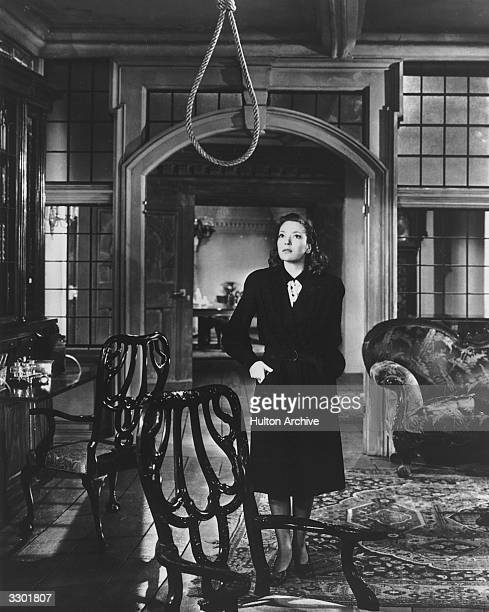 June Duprez finds an empty noose in a scene from the film 'And Then There Were None' adapted from the mystery thriller by Agatha Christie