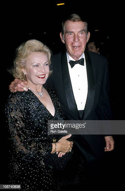 June Haver and Fred MacMurray during June Haver and Fred MacMurray Circa 1984 in Beverly Hills California United States