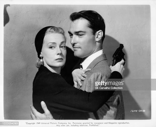 June Havoc as 'Molly X' and John Russell as 'Cash Brady' in a publicity shot from the movie 'The Story Of Molly X' United States.
