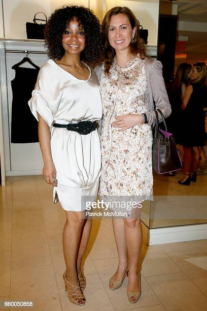 June Haynes and Inga Rubenstein attend VALENTINO Fall/Winter 2009 Capsule Collection Preview Luncheon hosted by SERENA BOARDMAN DORI COOPERMAN and...