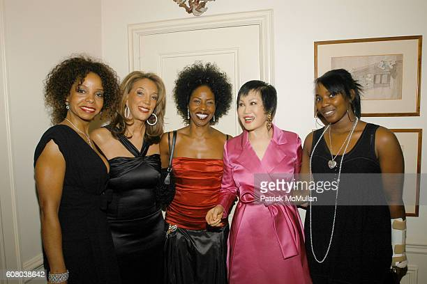 June Haynes Denise Rich Pauletta Washington YueSai Kan and Olivia Washington attend RICHARD TURLEY Birthday Dinner at The Home of YueSai Kan on...