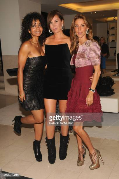 June Haynes Inga Rubenstein and Dori Cooperman attend ERICA REID Hosts the VALENTINO Fall/Winter 200910 Haute Couture Preview at Valentino on...