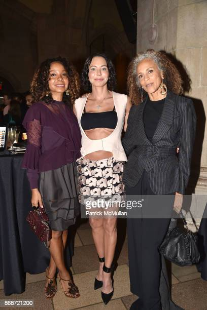 June Haynes Lisa Falcone and Alva Chinn attend The Fifth Annual Dinner By The Bite to benefit Esther's Aid at The Riverside Church on October 23 2017...