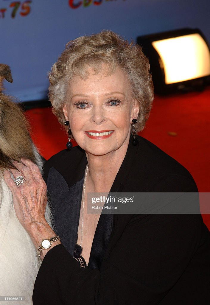 June Lockhart during CBS at 75 - Commemorating CBS'S 75th Anniversary - Arrivals at The Hammerstein Theater in New York City, New York, United States.