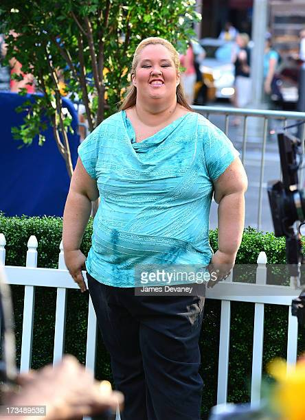 June 'Mama June' Shannon visits ABC's 'Good Morning America' on July 15 2013 in New York United States