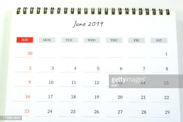 june month calendar - 六月 ストックフォトと画像