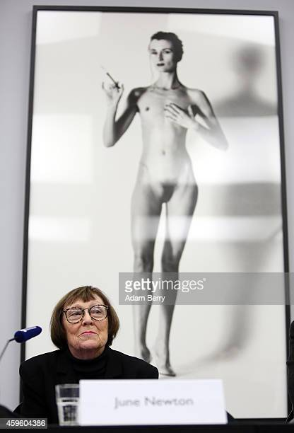 June Newton president of the Helmut Newton Foundation widow of the photographer Helmut Newton and photographer working in her own right under the...