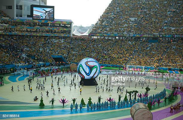 opening ceremony of the World Cup 2014 held at the Arena stadium in Sao Paulo on June 12 2014 Photo Urbanandsport / Nurphoto