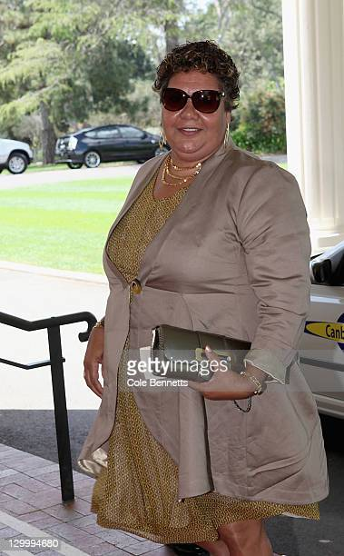 June Oscar CEO Marninwarntikura Fitzroy Women's Resource Centre arrives at the Govenor Generals Lunch in honor of Queen Elizabeth II on October 23...