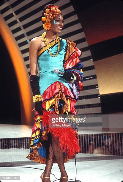 June Pointer of the Pointer Sisters during Pointer Sisters on Midnight Special TV Show at NBC Studios in Burbank California United States