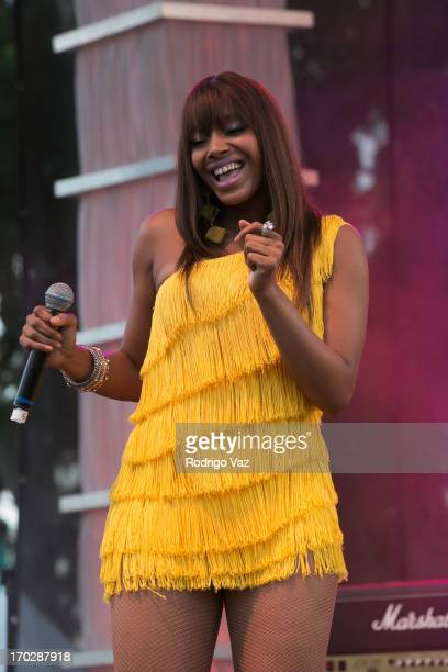 June Pointer of the Pointer Sisters performs at 2013 LA Gay Pride Festival Day 3 on June 9 2013 in West Hollywood California