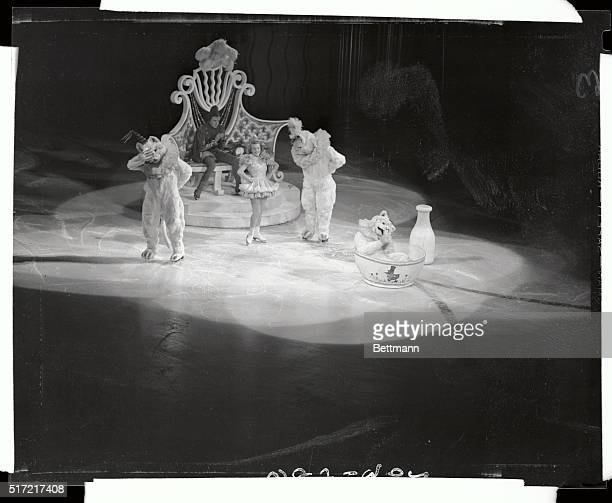 June Rae, Fluffy muffy and Tuffy are shown in a scene form