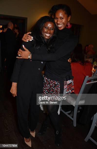 June Sarpong and Aicha McKenzie attend the Sativa Test Kitchen popup dinner on October 2 2018 in London England