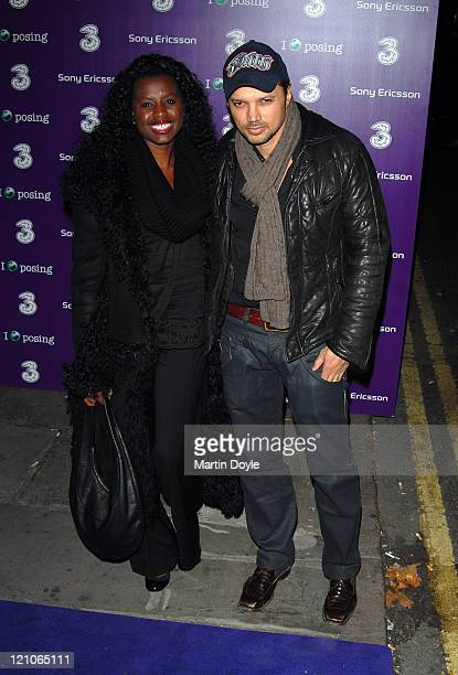 June Sarpong and guest attend the 3 Sony Ericsson K770i phone phone launch at the Bloomsbury Ballroom October 24, 2007 in London, England.