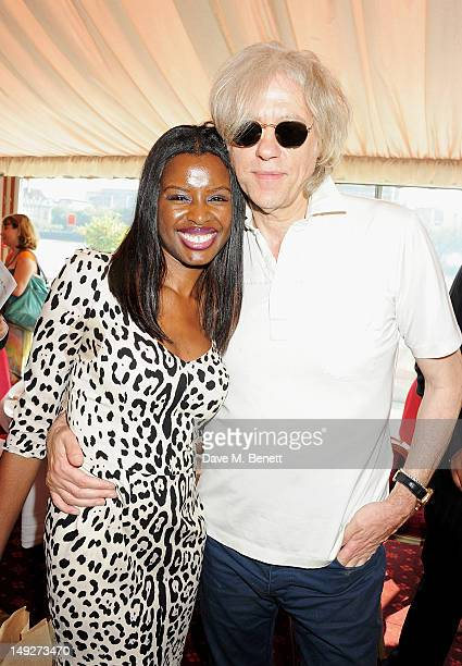 June Sarpong and Sir Bob Geldof attend the DNA Summit Innovation 101 Power Breakfast in the Cholmondeley Room Terrace at the House of Lords on July...