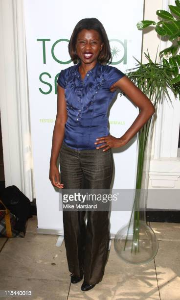 June Sarpong attends hairstylist Tara Smith Launch of her new line of Hair Products at the The Hempel Hotel on July 15 2008 in London England
