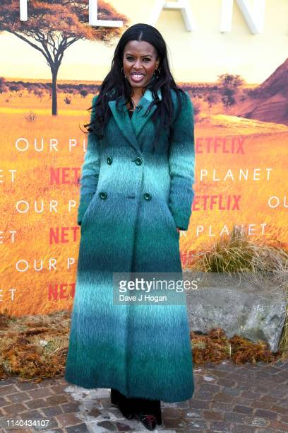 June Sarpong attends the Our Planet global premiere at Natural History Museum on April 04 2019 in London England